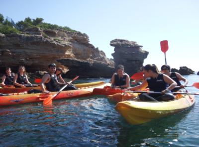 """"""" Cova del Llop Marí """" Practica caiac i snorkel"""